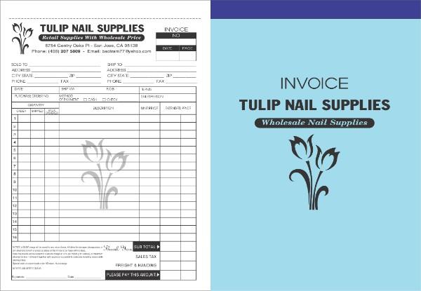 hóa đơn bán lẻ tulip nail